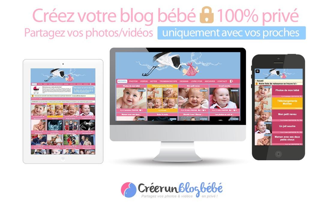 Partage photo sécurisé : Invitez vos proches dans votre blog bébé privé et partagez avec eux l'évolution de votre bébé