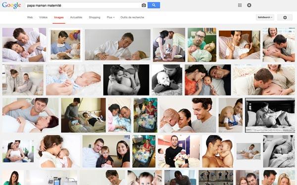 Des photos de jeunes familles sont affichées publiquement dans Google images à leur insu