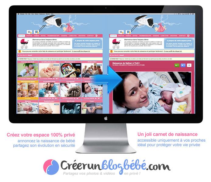 Votre blog grossesse privé : vos photos/vidéos sont uniquement visibles par vos invités
