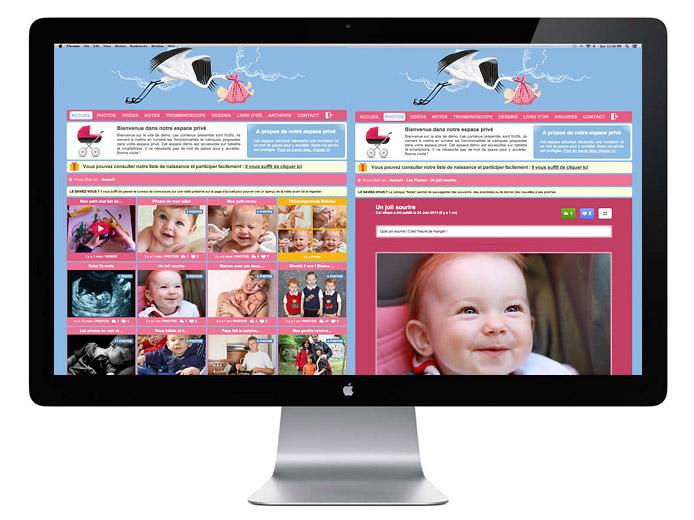 Votre blog bébé pour partager les premières photos de naissance de votre petit ange, en toute sécurité, avec vos proches